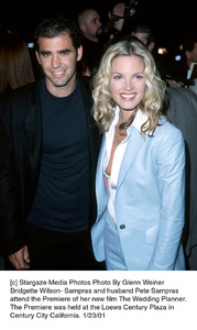 "Pete Sampras, Bridgette Wilson-Samprasat ""The Wedding Planner"" Premiere, 1/23/01. © 2001 Glenn Weiner - Image 17614_0101"