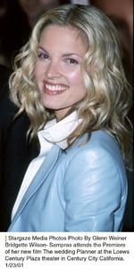 """Bridgette Wilson-Samprasat """"The Wedding Planner"""" Premiere, 1/23/01. © 2001 Glenn Weiner - Image 17614_0102"""