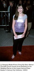 """Charlotte Churchat """"The Wedding Planner"""" Premiere, 1/23/01. © 2001 Glenn Weiner - Image 17614_0103"""