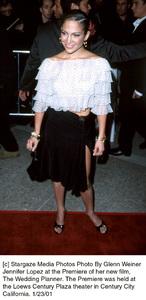 """Jennifer Lopezat """"The Wedding Planner"""" Premiere, 1/23/01. © 2001 Glenn Weiner - Image 17614_0108"""