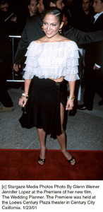 "Jennifer Lopezat ""The Wedding Planner"" Premiere, 1/23/01. © 2001 Glenn Weiner - Image 17614_0108"