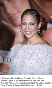 """Jennifer Lopezat """"The Wedding Planner"""" Premiere, 1/23/01. © 2001 Glenn Weiner - Image 17614_0109"""