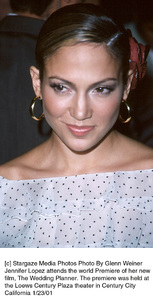 "Jennifer Lopezat ""The Wedding Planner"" Premiere, 1/23/01. © 2001 Glenn Weiner - Image 17614_0110"