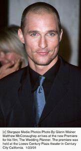 """Matthew McConaugheyat """"The Wedding Planner"""" Premiere, 1/23/01. © 2001 Glenn Weiner - Image 17614_0112"""