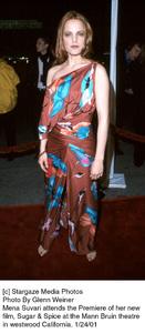"Mena Suvariattends the ""Sugar and Spice"" Premiere, 1/24/01. © 2001 Glenn Weiner - Image 17630_0108"