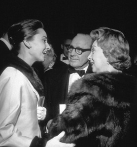 """""""Suddenly Last Summer Premiere and Party""""Audrey Hepburn and Jack Benny / 1959 © 1978 David Sutton - Image 1763_0016"""