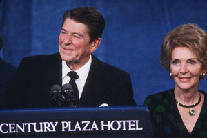 Ronald Reagan and wife Nancy campaigning for president1980 © 1980 GuntherMPTV - Image 1776_0002