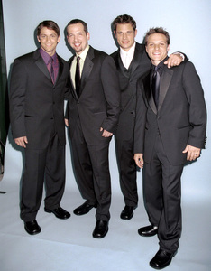 """98 Degrees: Jeff Timmons, Justin Jeffre, Nick Lachey, Drew Lachey""""GQ"""" Men Of The Year Awards: 2000. © 2000 Ariel Ramerez - Image 17871_0130"""