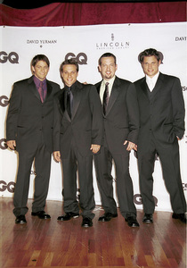 "98 Degrees: Jeff Timmons, Drew Lachey, Justin Jeffre, Nick Lachey""GQ"" Men Of The Year Awards: 2000. © 2000 Ariel Ramerez - Image 17871_0150"
