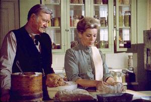 """The Shootist,"" Paramount 1976.John Wayne and Lauren Bacall. © 1978 David Sutton - Image 1797_0028"