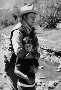 """Big Jake,"" Batjac/Cinema Center 1970.John Wayne and his son, Ethan. © 1978 David Sutton - Image 1798_0026"