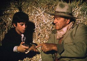 """Big Jake,"" Batjac/Cinema Center 1970.John Wayne and his son, Ethan. © 1978 David Sutton - Image 1798_0044"