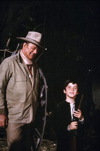 """Big Jake,"" Batjac/Cinema Center 1970.John Wayne and his son, Ethan. © 1978 David Sutton - Image 1798_0045"