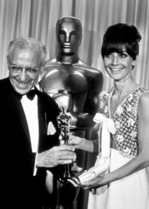 """""""Academy Awards: 40th Annual,""""George Cukor and Audrey Hepburn.1968. © 1978 Bud Gray - Image 1799_0008"""