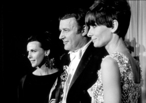 """""""Academy Awards: 40th Annual,""""Claire Bloom, Rod Steiger, and Audrey Hepburn.1968. © 1978 David Sutton - Image 1799_0015"""