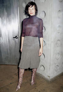 Milla JovovichNew York Fashion Week, 2000. © 2000 Ariel Ramerez - Image 18002_0119
