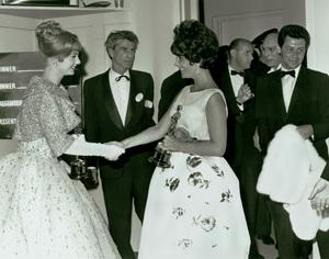 """Academy Awards - 33rd Annual""Shirley Jones, Elizabeth Taylor, Eddie Fisher1961**I.V. - Image 1801_0039"