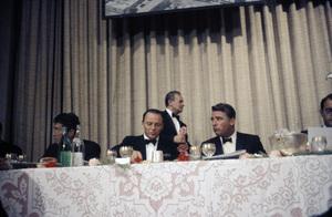 """Cedars-Sinai Benefit / Party""Dean Martin, Frank Sinatra, Peter Lawfordcirca 1961 / The Beverly Hilton © 1978 David Sutton - Image 1807_0005"
