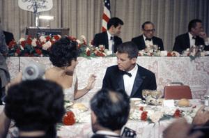 """Cedars-Sinai Benefit / Party""(top row) Eddie Fisher, Jack Benny, Kirk Douglas (bottom row) Elizabeth Taylor, Robert F. Kennedycirca 1961 / The Beverly Hilton © 1978 David Sutton - Image 1807_0016"