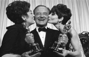 """Academy Awards: 39th Annual""Rosalind Russell, FredZinnemann, Audrey Hepburn1967 Photo by Bud Gray - Image 1808_0029"