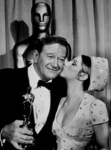 """Academy Awards: 42nd Annual"" John Wayne and Barbra Streisand 1970 - Image 1812_0039"