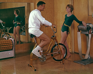 """""""Working Out / Exercising"""" circa 1965 © 1978 Sid Avery - Image 1819_0021"""