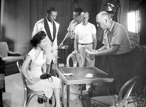 """""""Carmen Jones""""Dorothy Dandrige, Harry Belafonte, & Dir. Otto Preminger1954 20th Century Fox**I.V. - Image 18239_0016"""