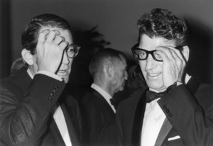 """""""Train, The"""" Premiere, 1965Burt Lancaster and Gregory Peck © 1978 Chester Maydole - Image 18295_0002"""
