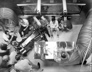 """""""The Andromeda Strain""""Director Robert Wise and Crew1970 Universal © 1978 Larry Barbier - Image 1849_0003"""