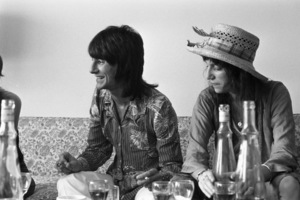Ronnie Wood at an interview with Patti Smith in New York Citycirca 1969 © 1978 Gary Legon - Image 1856_0140