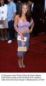 © Stargaze media Photos Photo By Glenn WeinerLeila Arcieri arrives at the Premiere of Dr. Dolittle 2 held at the GCC Avco theater in Westwood Ca. 6/19/01 - Image 18577_0107