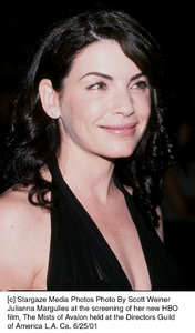 © Stargaze Media Photos Photo By Scott WeinerJulianna Margulies at the screening of her new HBOfilm, The Mists of Avalon held at the Directors Guildof America L.A. Ca. 6/25/01 - Image 18617_0103