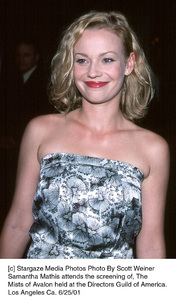 © Stargaze Media Photos Photo By Scott WeinerSamantha Mathis attends the screening of, TheMists of Avalon held at the Directors Guild of America.Los Angeles Ca. 6/25/01 - Image 18617_0104