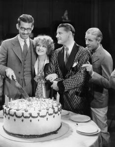 """Her Wedding Night""Clara Bow with Dir. Frank Tuttle on his birthday1930 Paramount**I.V.  - Image 18641_0004"