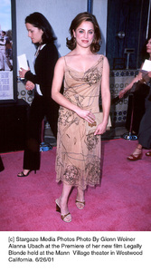 Alanna Ubach at the Premiere of her new film LegallyBlonde held at the Mann  Village theater in WestwoodCalifornia, 6/26/01. © 2001 Glenn Weiner - Image 18646_0101