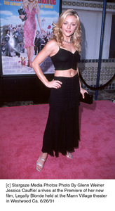 Jessica Cauffiel arrives at the Premiere of her newfilm, Legally Blonde held at the Mann Village theaterin Westwood Ca. 6/26/01. © 2001 Glenn Weiner - Image 18646_0108