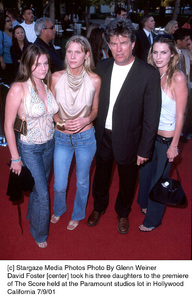 David Foster [center] took his three daughters to the premiere of The Score held at the Paramount studios lot in Hollywood California 7/9/01. © 2001 Glenn Weiner - Image 18766_0105