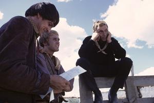 """The High Chaparral""Henry Darrow, Mark Slade, Cameron Mitchell1968© 1978 Gene Trindl - Image 1883_0004"