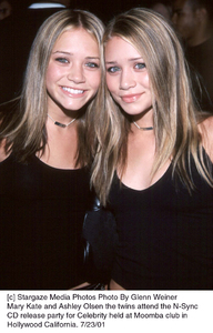 Mary Kate and Ashley Olsen the twins attend the N-Sync CD release party for Celebrity held at Moomba club in Hollywood California. 7/23/01. © 2001 Glenn Weiner - Image 18842_0102