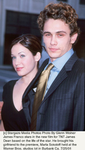 James Dean: PremiereJames Franco with girlfriend Marla SokoloffWarner Bros. studios, Burbank, CA  7/25/01 © 2001 Glenn Weiner - Image 18844_0103