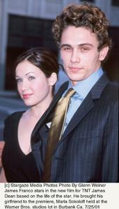 James Dean: PremiereJames Franco with girlfriend Marla SokoloffWarner Bros. studios, Burbank, CA  7/25/01 © 2001 Glenn Weiner - Image 18844_0103
