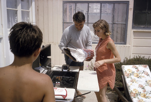 """Cast party for """"Peyton Place""""Chris Connelly, Pat Morrow1965 © 1978 Gene Trindl - Image 18855_0012"""