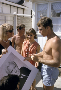 """Cast party for """"Peyton Place""""Dorothy Malone, Chris Connelly, Pat Morrow, Ryan O"""