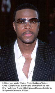 Chris Tucker arrives at the world premiere of his newfilm, Rush Hour 2 held at the Manns Chinese theatre in Hollywood California. 7/26/01. © 2001 Glenn Weiner - Image 18861_0101