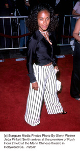 Jada Pinkett Smith arrives at the premiere of RushHour 2 held at the Mann Chinese theatre inHollywood Ca.  7/26/01. © 2001 Glenn Weiner - Image 18861_0109