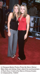 Mary Kate and Ashley Olsen attend the world premiere of Rush Hour 2 held at the Manns Chinese theatre in Hollywood Ca. 7/26/01. © 2001 Glenn Weiner  - Image 18861_0119