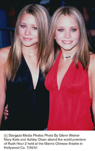 Mary Kate and Ashley Olsen attend the world premiere of Rush Hour 2 held at the Manns Chinese theatre in Hollywood Ca. 7/26/01. © 2001 Glenn Weiner - Image 18861_0120