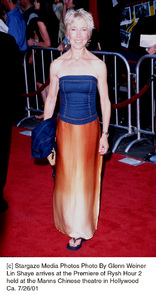 Lin Shaye arrives at the Premiere of Rysh Hour 2held at the Manns Chinese theatre in HollywoodCa. 7/26/01. © 2001 Glenn Weiner - Image 18861_0122