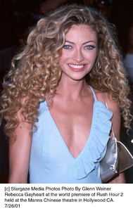 Rebecca Gayheart at the world premiere ofRush Hour 2 held at the Manns Chinese theatre in Hollywood CA. 7/26/01, © 2001 Glenn Weiner - Image 18861_0123