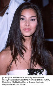 Roselyn Sanchez arrives at the Premiere for her new film, Rush Hour 2 held at the Manns Chinese theatre inHollywood California. 7/26/01. © 2001 Glenn Weiner - Image 18861_0124
